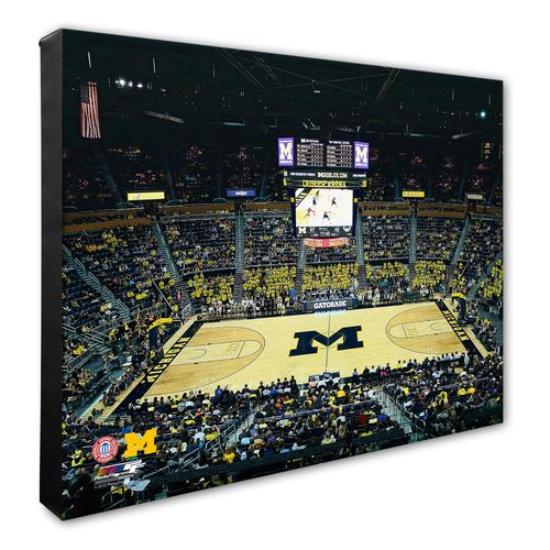 Photo File University of Michigan Arena Stretched Canvas