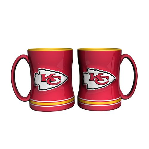 Boelter Brands Kansas City Chiefs 14 oz. Relief Mugs 2-Pack