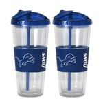 Boelter Brands Detroit Lions 22 oz. No-Spill Straw Tumblers 2-Pack - view number 1