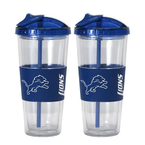 Boelter Brands Detroit Lions 22 oz. No-Spill Straw Tumblers 2-Pack