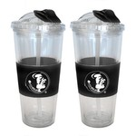 Boelter Brands Florida State University 22 oz. No-Spill Straw Tumblers 2-Pack - view number 1