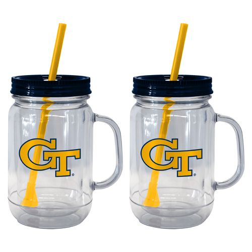 Boelter Brands Georgia Tech 20 oz. Handled Straw Tumblers 2-Pack