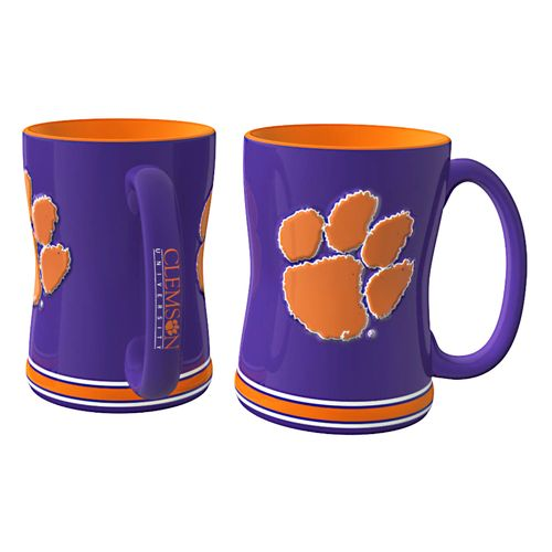 Boelter Brands Clemson University 14 oz. Relief Coffee Mugs 2-Pack