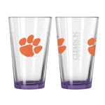 Boelter Brands Clemson University Elite 16 oz. Pint Glasses 2-Pack - view number 1