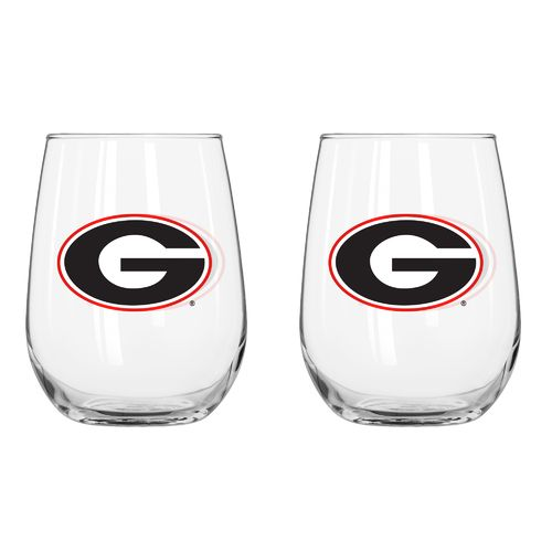Boelter Brands University of Georgia 16 oz. Curved Beverage Glasses 2-Pack