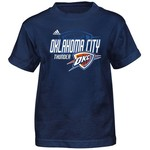 adidas™ Boys' Oklahoma City Thunder Distressed Logo T-shirt