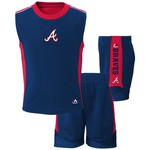 Majestic Toddlers' Atlanta Braves Slide Home Shirt and Short Set