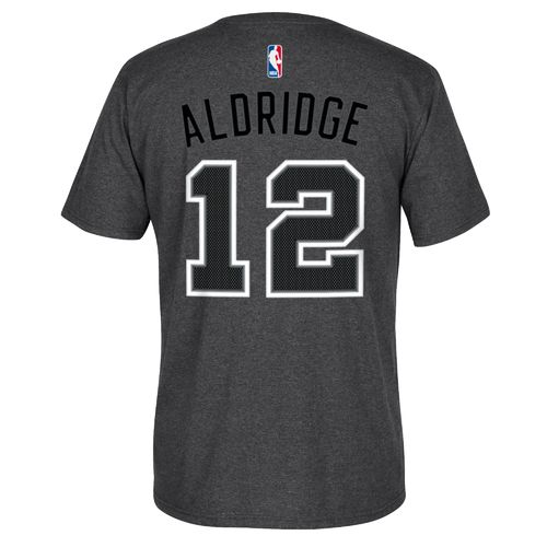 adidas Men's San Antonio Spurs LaMarcus Aldridge No. 12 Game Time High Density T-shirt