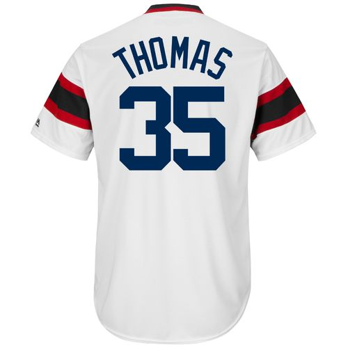Cheap Majestic Men's Chicago White Sox Frank Thomas #35 Cooperstown Cool Base 1981-85 Replica Jersey