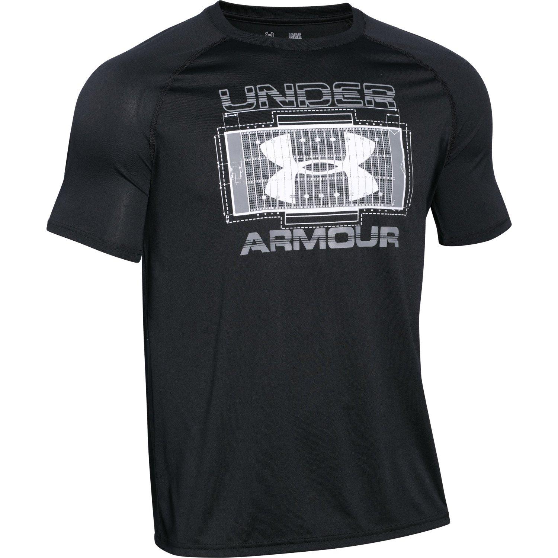 Under armour men 39 s football field t shirt academy for Under armor football shirts