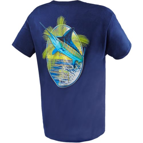 Guy Harvey Men's Sunset Palms Print Graphic T-shirt