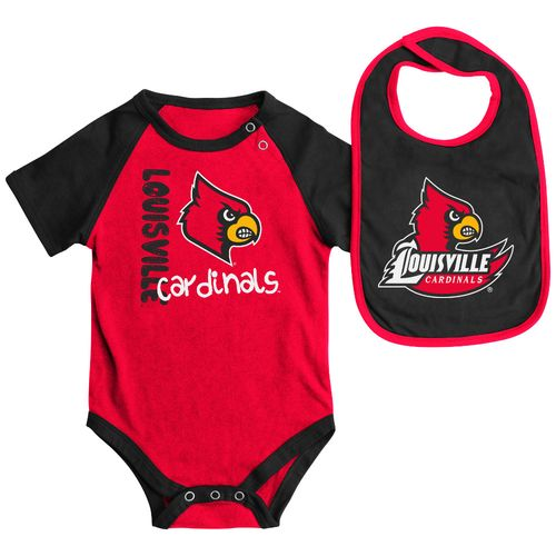 Colosseum Athletics Infants' University of Louisville Rookie Onesie and Bib Set