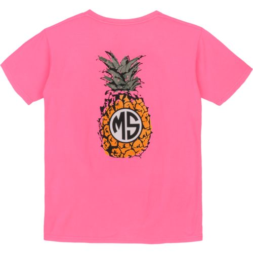 Royce Juniors' State Pride Mississippi Pineapple Monogram T-shirt