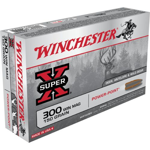 Winchester Magnum Super-X® 300 Caliber 150-Grain Power-Point®