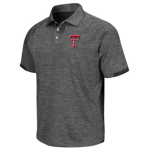 Colosseum Athletics Men's Texas Tech University Spiral Short Sleeve Polo Shirt