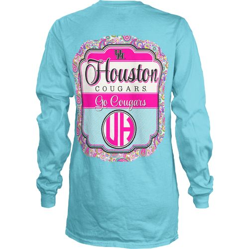 Three Squared Juniors' University of Houston Paisley Frame T-shirt