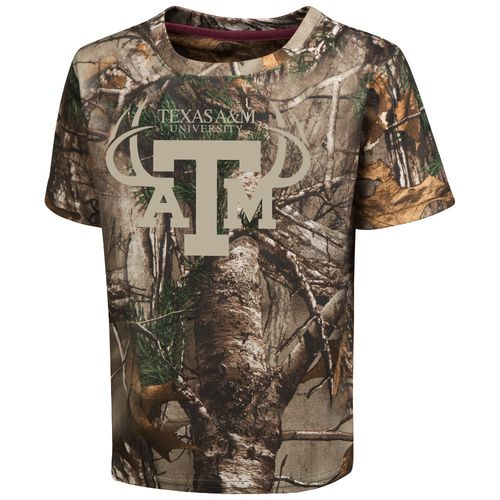 Colosseum Athletics™ Toddler Boys' Texas A&M University Blacktail Camo T-shirt