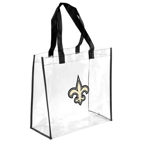 Team Beans New Orleans Saints Clear Reusable Bag