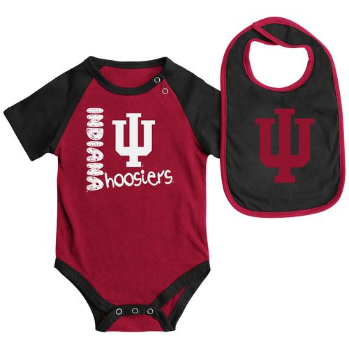 Colosseum Athletics Infants' Indiana University Rookie Onesie and Bib Set