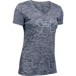 Under Armour™ Women's Tech Twist Branded V-neck Short Sleeve Shirt
