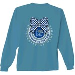New World Graphics Women's University of Memphis Ribbon Bow Long Sleeve T-shirt