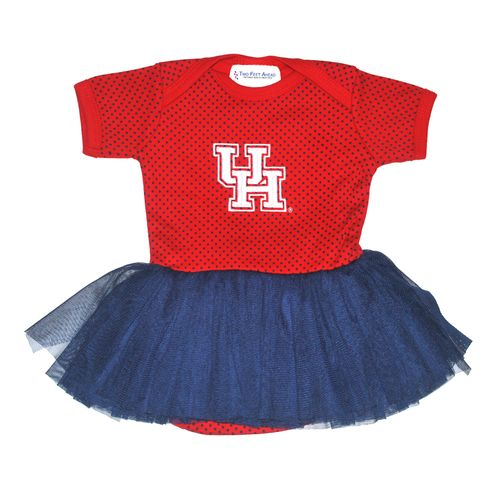 Two Feet Ahead Infant Girls' University of Houston Pin Dot Tutu Creeper