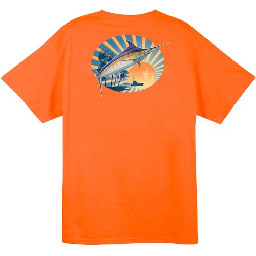 Guy Harvey Men's Poseidon Short Sleeve Pocket T-shirt