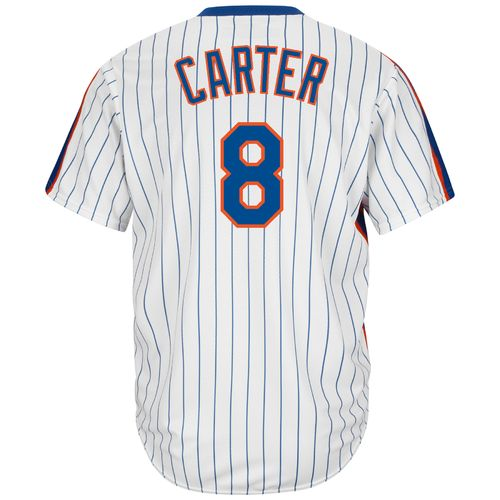 Majestic Men's New York Mets Gary Carter #8 Cool Base Cooperstown Jersey