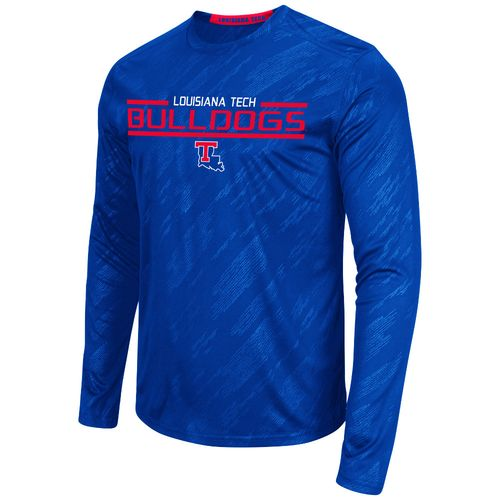 Colosseum Athletics™ Men's Louisiana Tech University Sleet Embossed Long Sleeve T-shirt