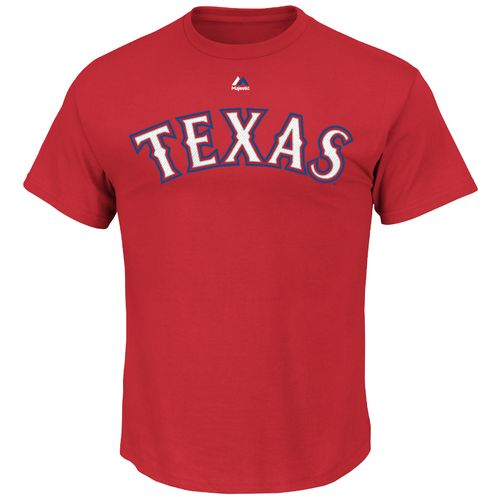 Majestic Men's Texas Rangers Jonathan Lucroy #25 T-shirt - view number 2