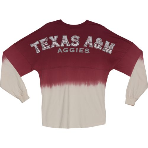 NCAA Women's Texas A&M University Ombré Tribal Football T-shirt