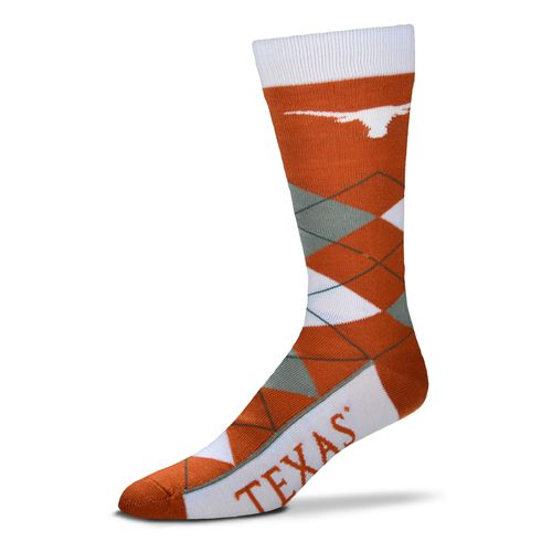 For Bare Feet Unisex University of Texas Team Pride Flag Top Dress Socks