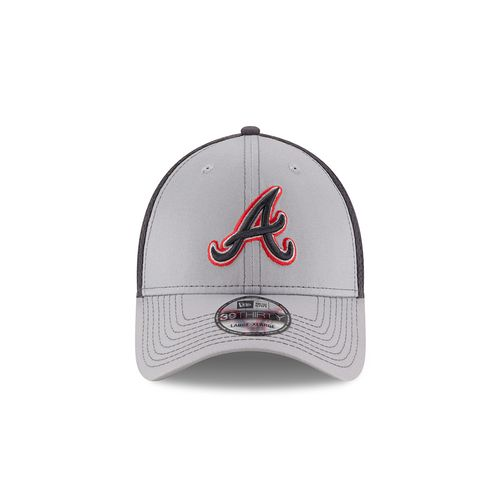 New Era Men's Atlanta Braves 39THIRTY Grayed Out Neo 2 Cap - view number 6