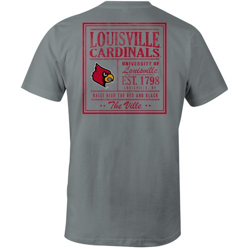 Image One Men's University of Louisville Vintage Poster Comfort Color T-shirt