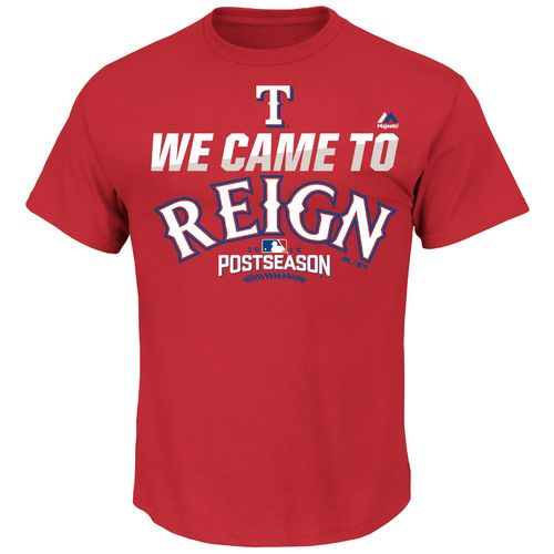 Majestic Men's Texas Rangers We Came To Reign 2016 Postseason T-shirt - Big and Tall