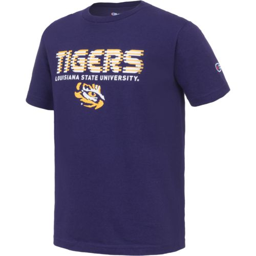 Champion™ Boys' Louisiana State University Stripe Wordmark T-shirt