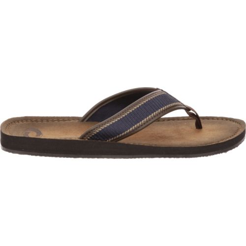 Display product reviews for O'Rageous Men's Burnished Stripe Flip-Flops