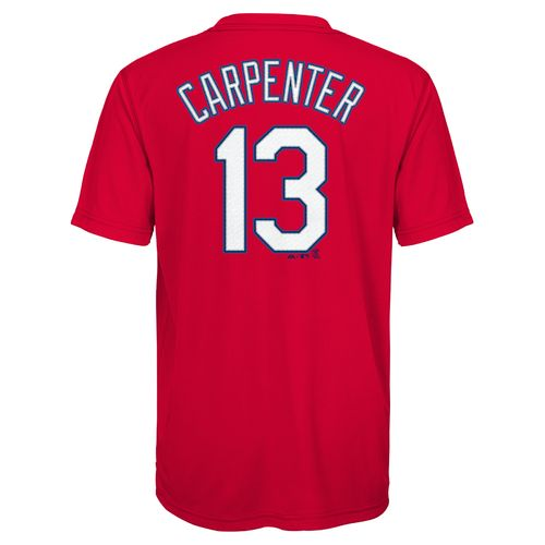 MLB Boys' St. Louis Cardinals Matt Carpenter 13 Name and Number T-shirt