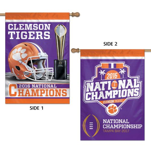"WinCraft Clemson University 2016 National Champions 28""X40"" Vertical Flag"