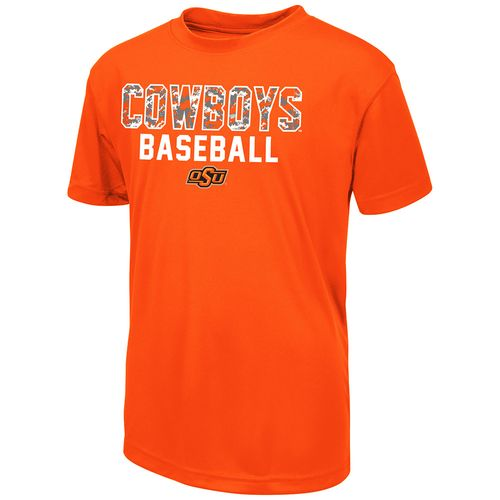 Colosseum Athletics Boys' Oklahoma State University Digi Camo Baseball T-shirt