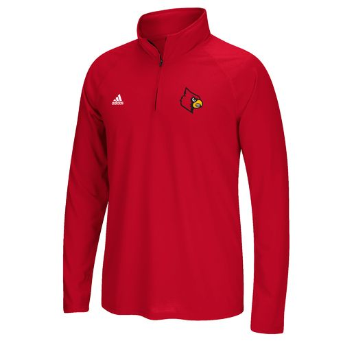 adidas Men's University of Louisville Sideline Basic Logo 1/4 Zip Pullover