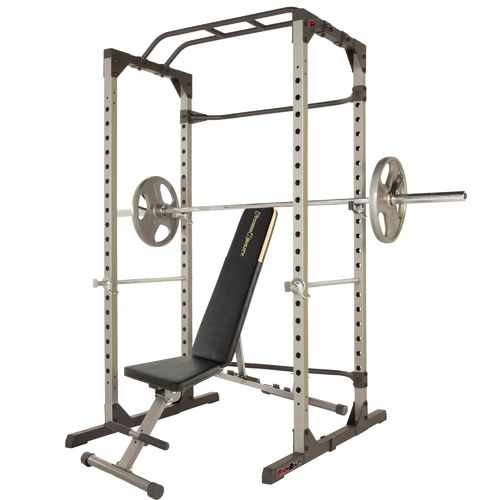 Fitness Reality 810XLT Super Max Power Cage with 800 lbs Capacity Super Max 1000 Bench Set