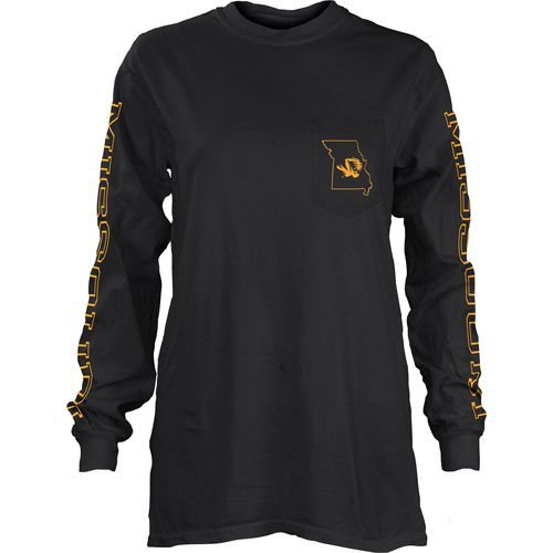 Three Squared Juniors' University of Missouri Mystic Long Sleeve T-shirt