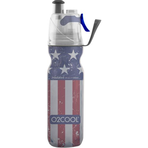 O2 COOL ArcticSqueeze Mist 'N Sip 20 oz Patriotic Water Bottle