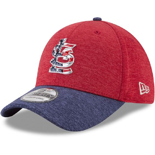 New Era Men's St. Louis Cardinals Stars and Stripes '17 39THIRTY Cap - view number 1