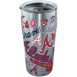 Tervis Atlanta Braves All Over 20 oz Stainless-Steel Tumbler - view number 1