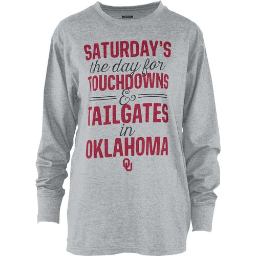 Three Squared Juniors' University of Oklahoma Touchdowns and Tailgates T-shirt