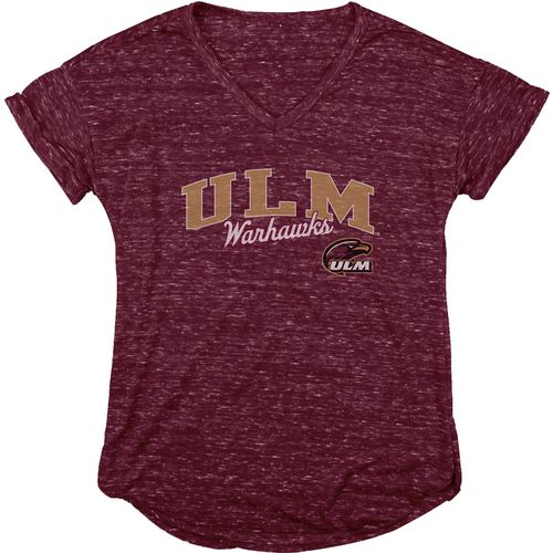 Blue 84 Women's University of Louisiana at Monroe Dark Confetti V-neck T-shirt