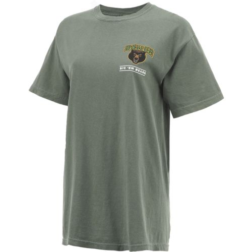 New World Graphics Women's Baylor University Comfort Color Puff Arch T-shirt - view number 3