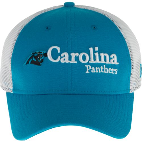 New Era Men's Carolina Panthers 39THIRTY Wordmark Mesh Cap